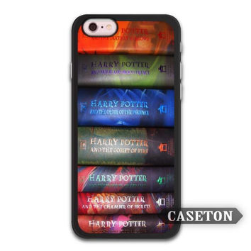 Harry Potter Books Collection  Funny Case For iPhone 7 6 6s Plus 5 5s SE 5c 4 4s and For iPod 5