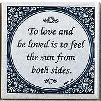 Delft Magnet Tile Quotes: Love & Be Loved