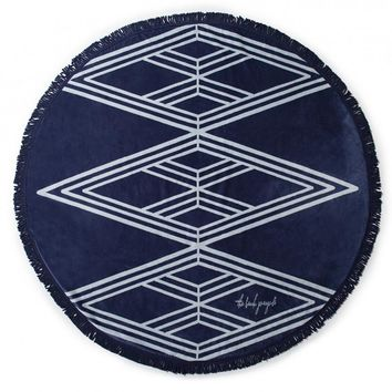 The Beach People - Santorini Round Towel