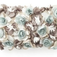 One Kings Lane - Edie Pillows - Bouquet Dimensional Laser Pillow, Buff