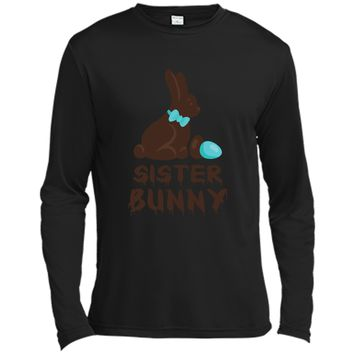 Chocolate Easter Sister Funny Bunny Family Couples T Shirt Long Sleeve Moisture Absorbing Shirt