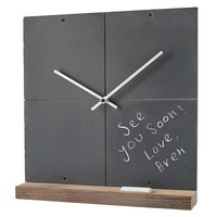 RECLAIMED SLATE CLOCK | Chalkboard Clocks, Recycled Blackboard | UncommonGoods