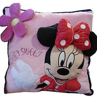 disney parks minnie mouse 3d cute & sweet pillow new with tag