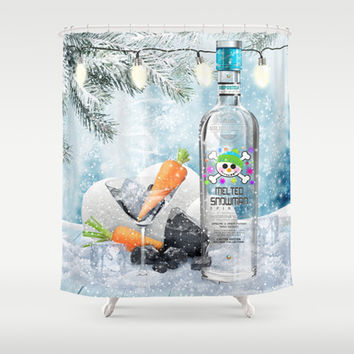 Holiday Cheer! (Melted Snowman Spirits) Shower Curtain by soaring anchor designs ⚓ | Society6