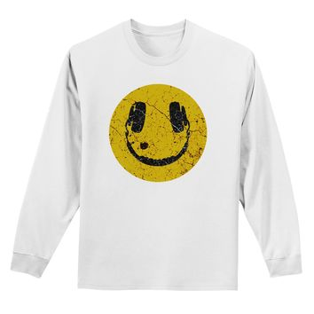 EDM Smiley Face Adult Long Sleeve Shirt by TooLoud