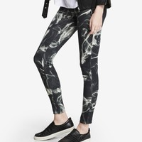 SMOKE PRINT DOUBLE KNIT LEGGING