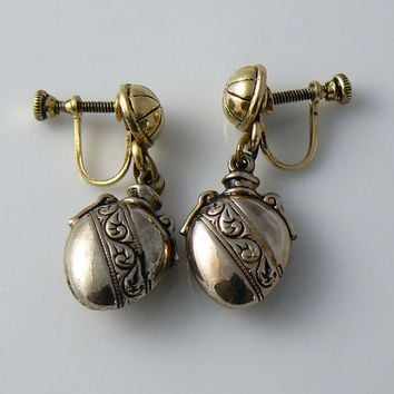 Dangling Locket Earrings