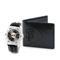 MLB San Francisco Giants Men's Watch and Wallet Gift Set