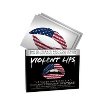 Violent Lips - The American Flag Glitteratti Pro - Set of 3 Temporary Lip Tattoos