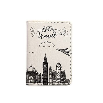 Travel the World Customized Cute Leather Passport Holder - Passport Covers - Passport Wallet_SUPERTRAMPshop