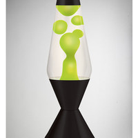 Lava Lamp with Green Lava, Clear Liquid, and Black Base 52 oz.