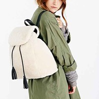 Silence + Noise Shearling Backpack - Ivory One