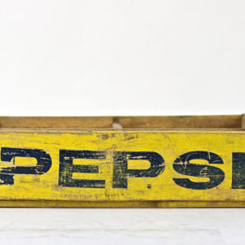 Pepsi Crate, Wood Soda Crate, Wood Pop Crate, Vintage Pepsi Wood Crate, Industrial Decor