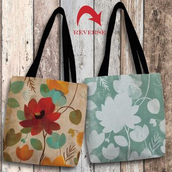 Vibrant Embroidery II Canvas Tote Bag
