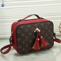 *Louis Vuitton* Women Casual Handbag Bag Satchel Bag