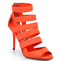 Jimmy Choo - Dame Neon Leather Strappy Sandals - Saks Fifth Avenue Mobile