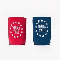 'Merica Y'all Neoprene Koozie