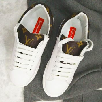 Supreme x LV Old Skool Flats Sneakers Sport Shoes
