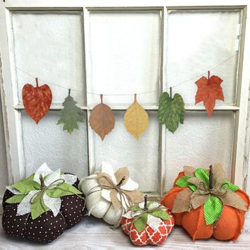 DIY Fall Leaves Bunting Decor Assorted Autumn Falling Leaves Ornaments Garland Maple Leaf Banner Home Mantle Decor Thanksgiving