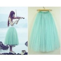 Fashion Princess Fairy Style 5 layers Tulle Dress  Bouffant  Skirt 5 Colors S043