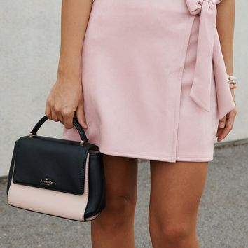 Side Note Wrap Skirt (Mauve)