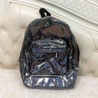 Cool Hologram Holographic Laser PU Backpack School Backpack Tote Bag HOT~
