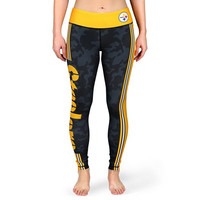 Pittsburgh Steelers Official NFL Stripe Leggings