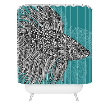 Valentina Ramos Beta Fish Shower Curtain