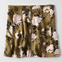 AEO Zip Front Mini Skirt, Floral