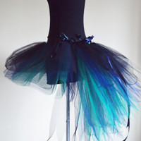 Burlesque Moulin Rouge Peacock TuTu NAvY GReeN by thetutustoreuk