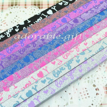 Folding Star Origami /Glow in Dark Shiny / Paper Lucky Star Assorted / Favour Strips 2 Colors Mixed / LOVE YOU Glitter Bling 36 Stripes