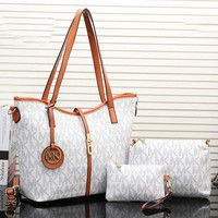 MK Fashion New Leather Women Shopping Handbag Crossbody Shoulder Bag White