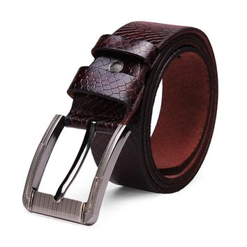 Metal Automatic Buckle For Men Fashion Business Casual High Quality Mens Retro Leather Pin Buckle Belt Male New Brand