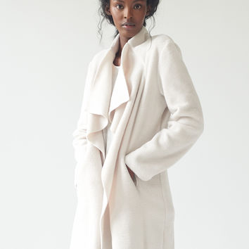 Polar Wrap Coat-natural