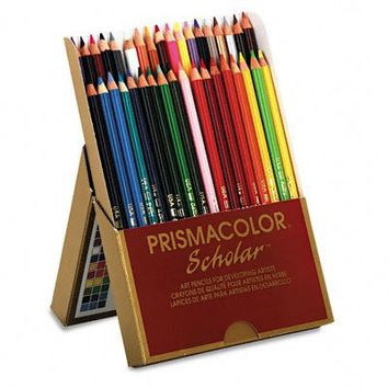 Prismacolor 92806 Prismacolor Scholar Colored Woodcase Pencils, 36 Assorted Colors/Set