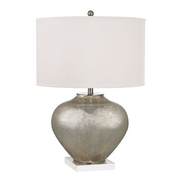 D2544 Edenbridge Antique Mercury Glass Table Lamp with LED Nightlight