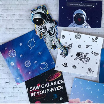 outer space inspired sticker pack