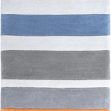 Surya Chic CHI1040 Blue/Orange Contemporary Area Rug