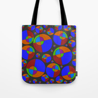 Bubble red & blue 09 Tote Bag by Zia
