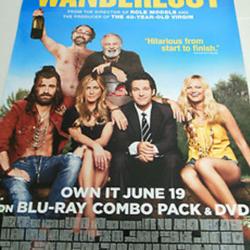 Wanderlust Movie Poster 27X40 Used Michael Ian Black, Joe Lo Truglio, Mather Zickel, Michaela Watkins, Keegan Michael Key, Alan Alda, Linda Lavin, Ken Marino, Kathryn Hahn, Michael Showalter, Kerri Kenney