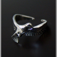 Dove Ring  High Quality by SilverJewelryShop on Etsy