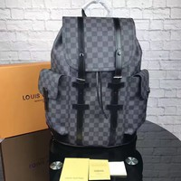cc kuyou LV Backpack Black Pattern