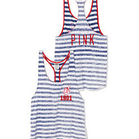 Cleveland Indians High-Low Striped Tank - PINK - Victoria's Secret