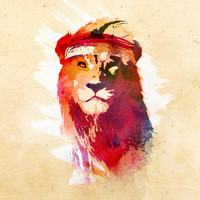 Gym Lion Art Print by Robert Farkas