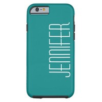 iPhone 6 Case, Turquoise, Personalized Tough iPhone 6 Case