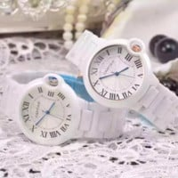 """CARTIER"" Women Fashion Simple Quartz Watch Casual Wristwatch"