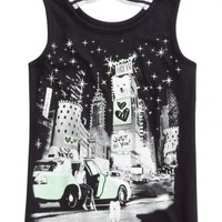 Graphic Bow Back Tank