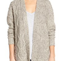 Madewell Marled Panel Stitch Open Front Cardigan | Nordstrom