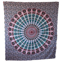 MyNeLo Handicrunch Hippie Mandala Star Tapestry, Wall Tapestries, Brand New Lovely Tapestry, Wall Hanging, and Bedspread, Cotton Bohemian Tapestry, Hippie Tapestry, Cotton Bed Sheet, Decor Art Wall Hanging