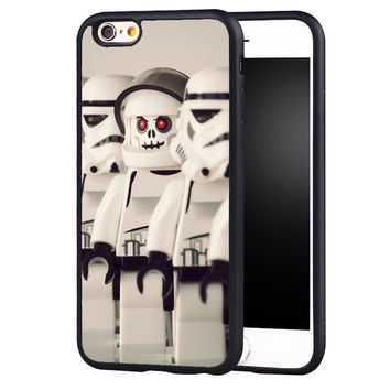 stormtroopers star wars lego Printed Soft Rubber Skin Mobile Phone Cases For iPhone 6 6S Plus SE 5 5S 5C 4 4S Back Shell Cover